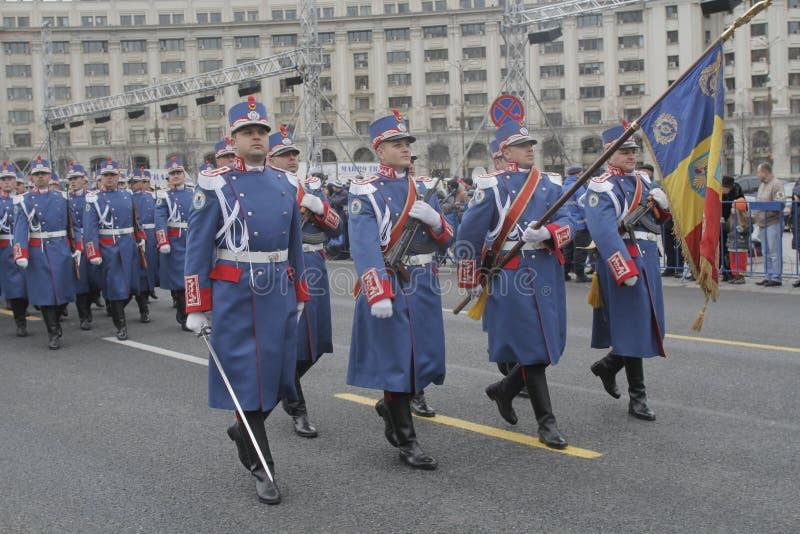 Repetición para el desfile rumano del día nacional imagen de archivo libre de regalías