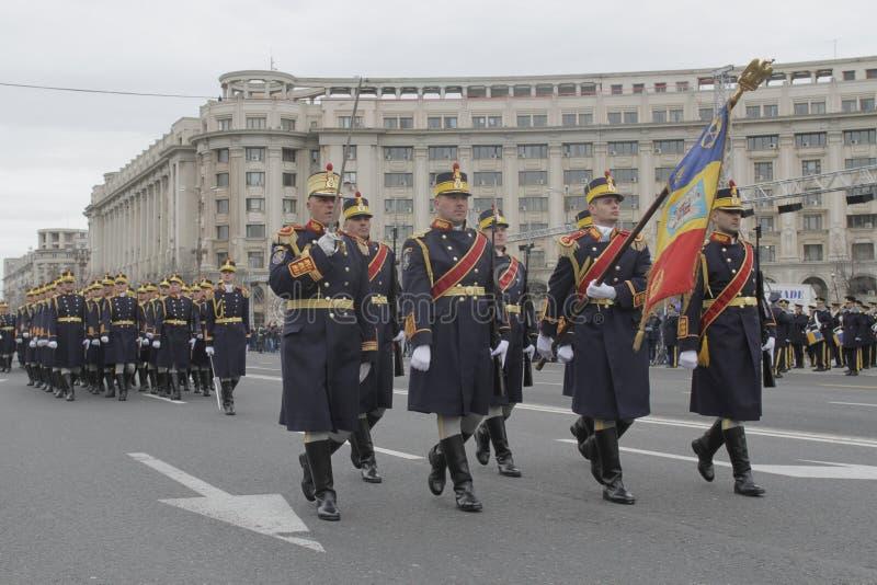 Repetición para el desfile rumano del día nacional foto de archivo libre de regalías