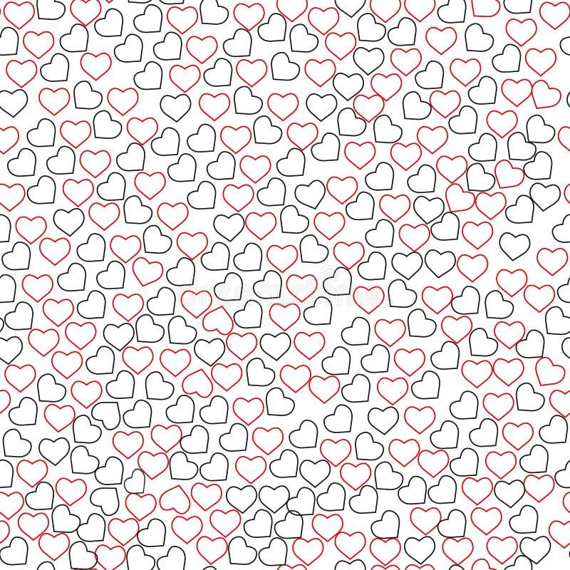 Repetido alrededor de los puntos y de los corazones dibujados a mano con el cepillo del watercolour Modelo inconsútil lindo Impre ilustración del vector