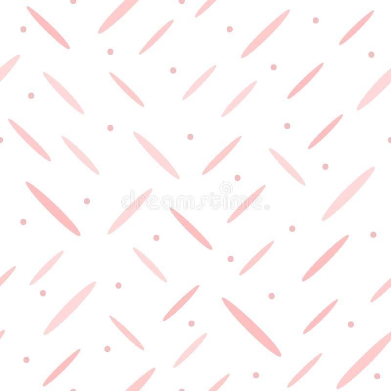 Repetido em volta dos pontos e das linhas curtos tirados à mão Teste padrão sem emenda bonito ilustração royalty free