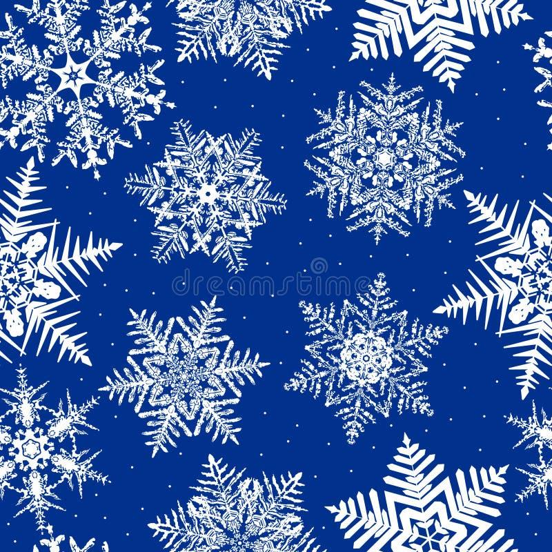 Repetindo o fundo do floco de neve ilustração do vetor