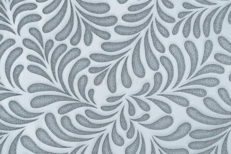 Repetindo o teste padrão da folha wallpaper Cinza no branco fotografia de stock royalty free