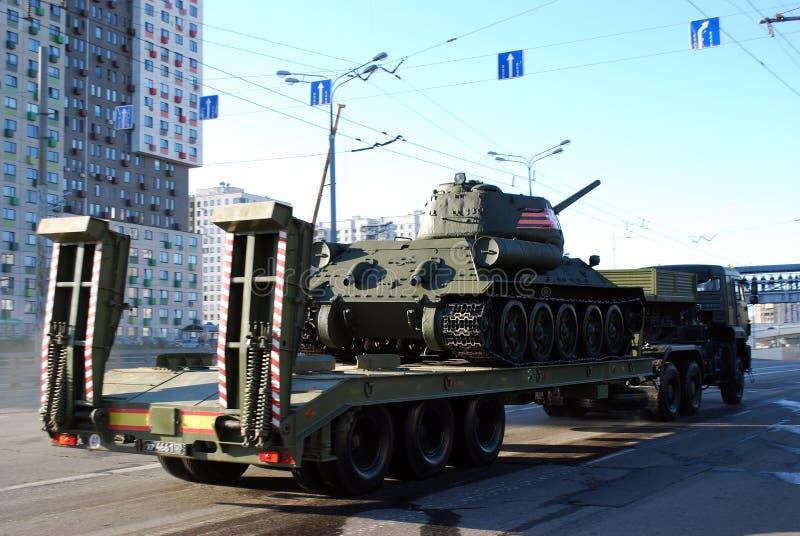 Repetitie vóór Victory Day-parade voor 9 Mei stock afbeelding