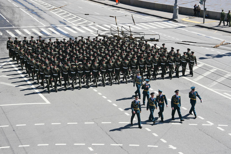 Repetition av ståta i Ryssland royaltyfri fotografi