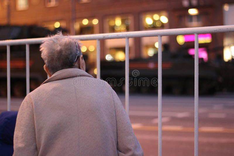 A repetition Parade Russia's World War II royalty free stock photo
