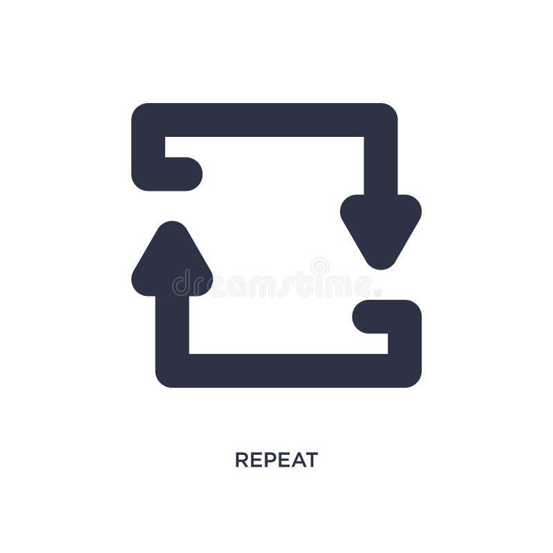 repetitionsymbol på vit bakgrund Enkel beståndsdelillustration från begrepp för pilar 2 vektor illustrationer