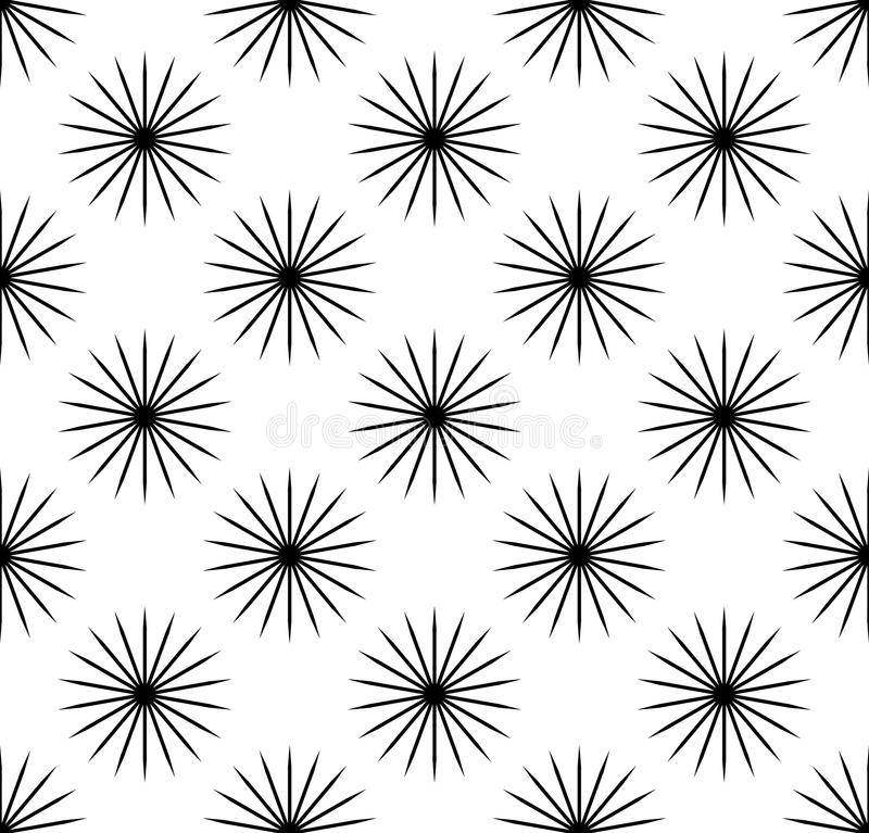 Repetitive pattern with radial-radiating lines. Abstract geometr royalty free illustration