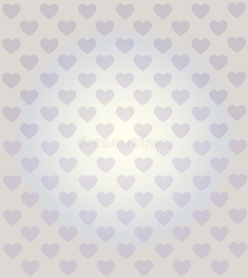 Heart seamless pattern light glow background stock illustration