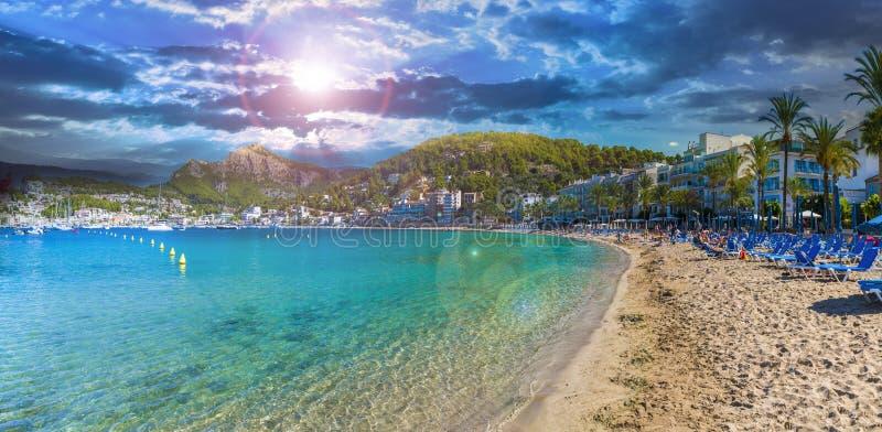 Repic-Strand auf Porte de Soller, Palma Mallorca stockbilder