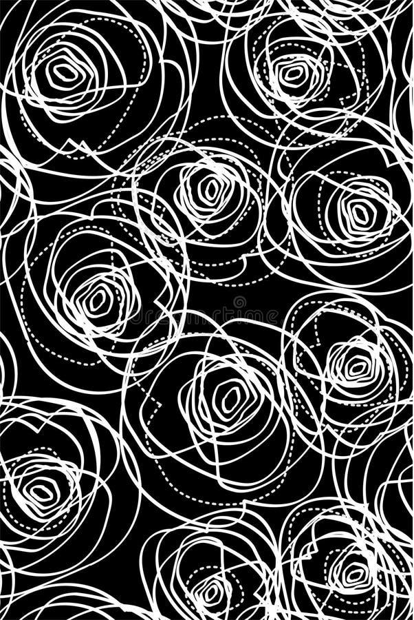 Repita a amostra com rosas ilustração do vetor