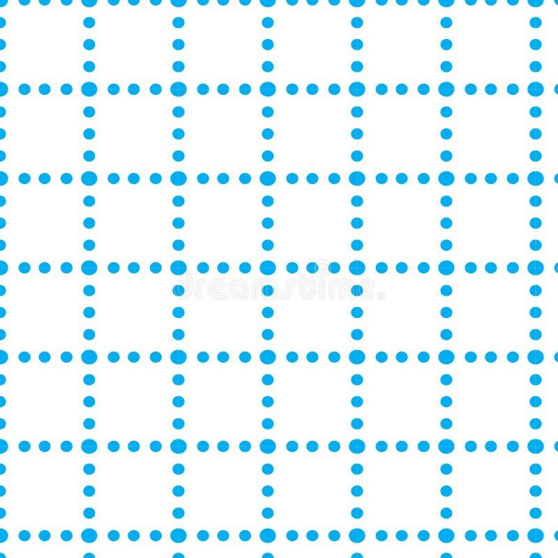 Repita o teste padrão abstrato geométrico do vetor da composição azul do cubo do ponto fotografia de stock