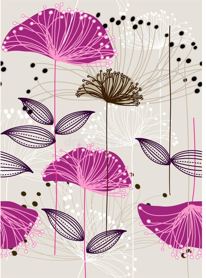 Repita o teste padrão floral ilustração stock