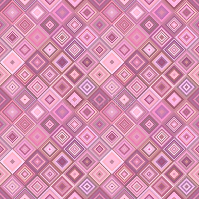 Repitiendo el modelo cuadrado diagonal - vector el gráfico del fondo del mosaico libre illustration