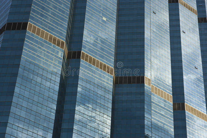 Download Replete mirror on building stock image. Image of financial - 33990205