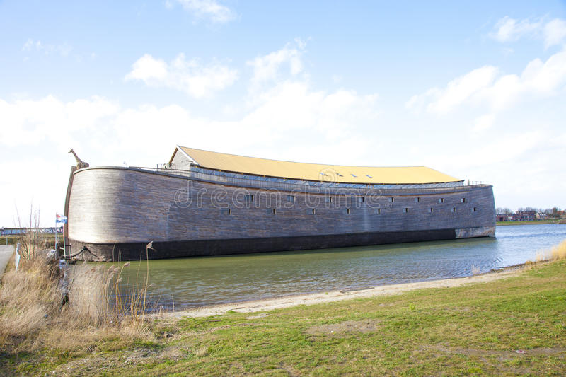 Replica of Ark of Noah. In The Netherlands stock photo