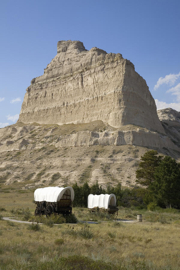 Download A replica of Covered wagon stock image. Image of grassland - 27073459