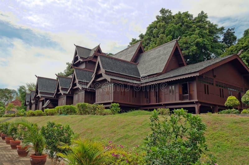 Replica del palazzo del Sultante di Melaka immagine stock libera da diritti