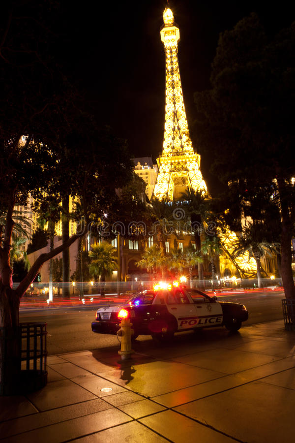 Replica of Eiffel Tower at the Paris Hotel stock photo