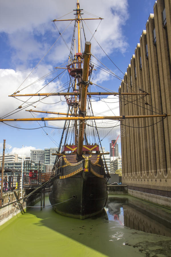 The Replica of Golden Hind - London stock photography