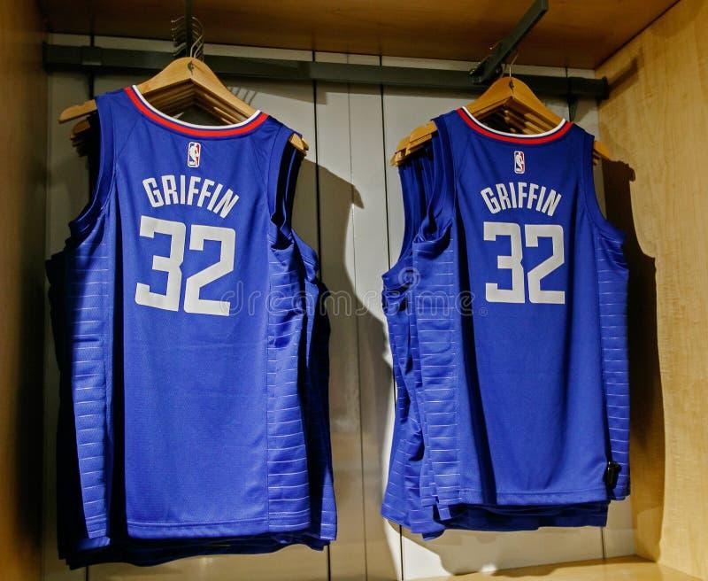 Replica Jersey van Blake Griffin van Clippers van Los Angeles royalty-vrije stock afbeeldingen