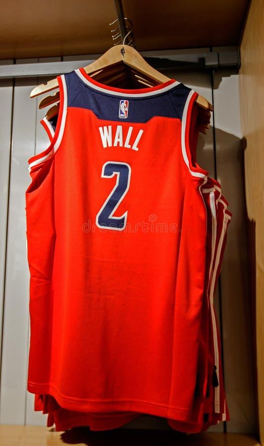 Replica Jersey van John Wall van Washington Wizards stock foto