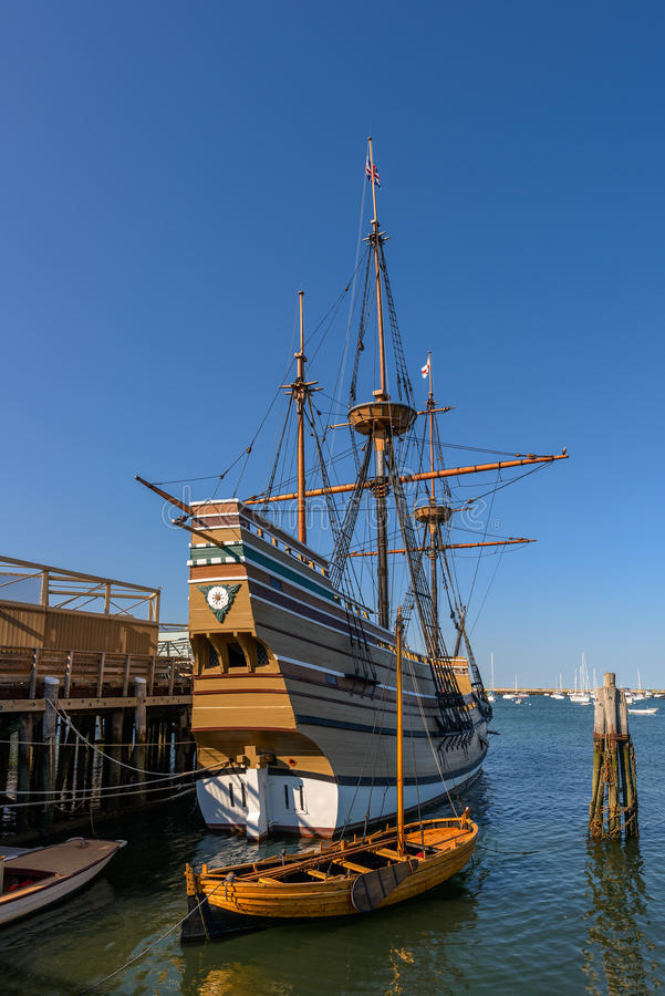 Replica of the Mayflower royalty free stock photos