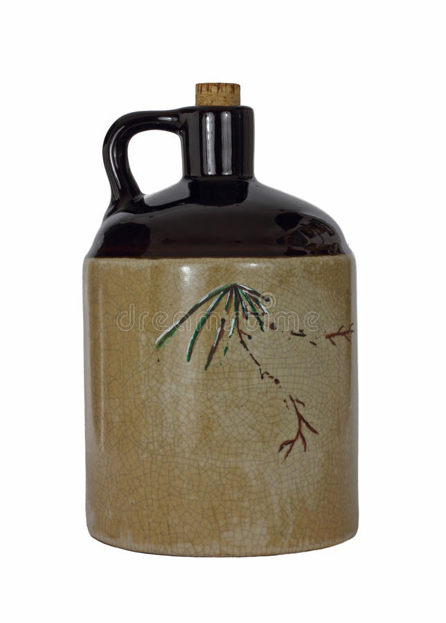 Download Replica Old Brown Jug stock photo. Image of white, cork - 18941440