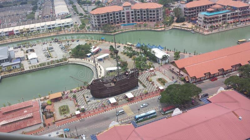 a replica ship royalty free stock photo