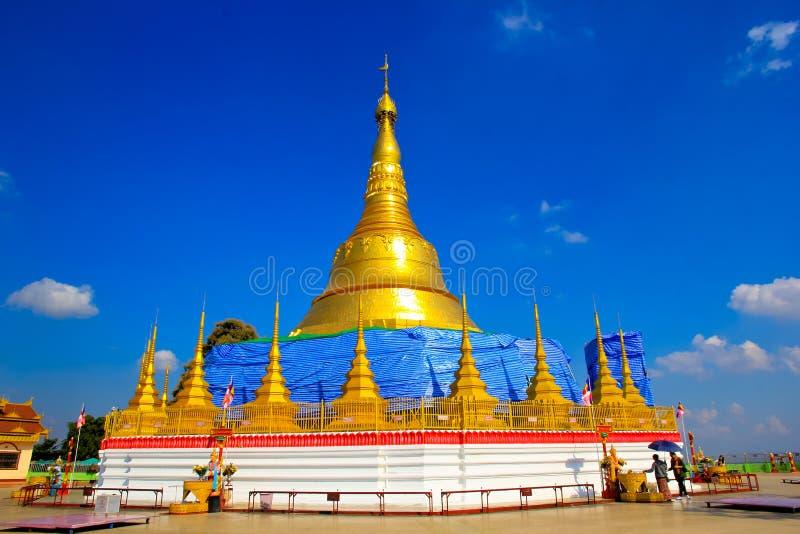 Replica of Shwedagon pagoda stock image