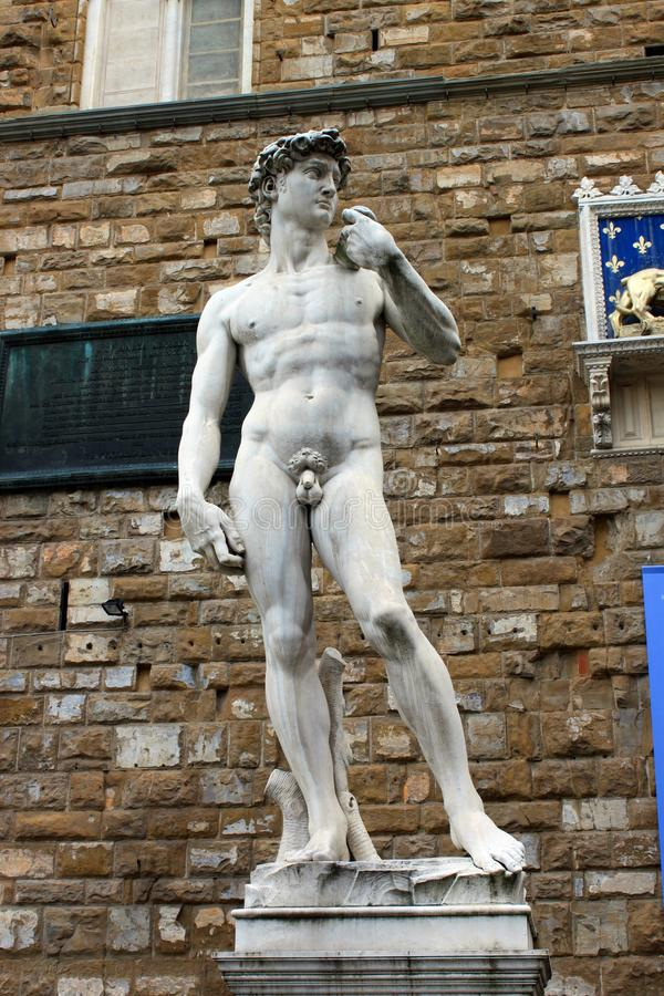Replica statue of David royalty free stock photos