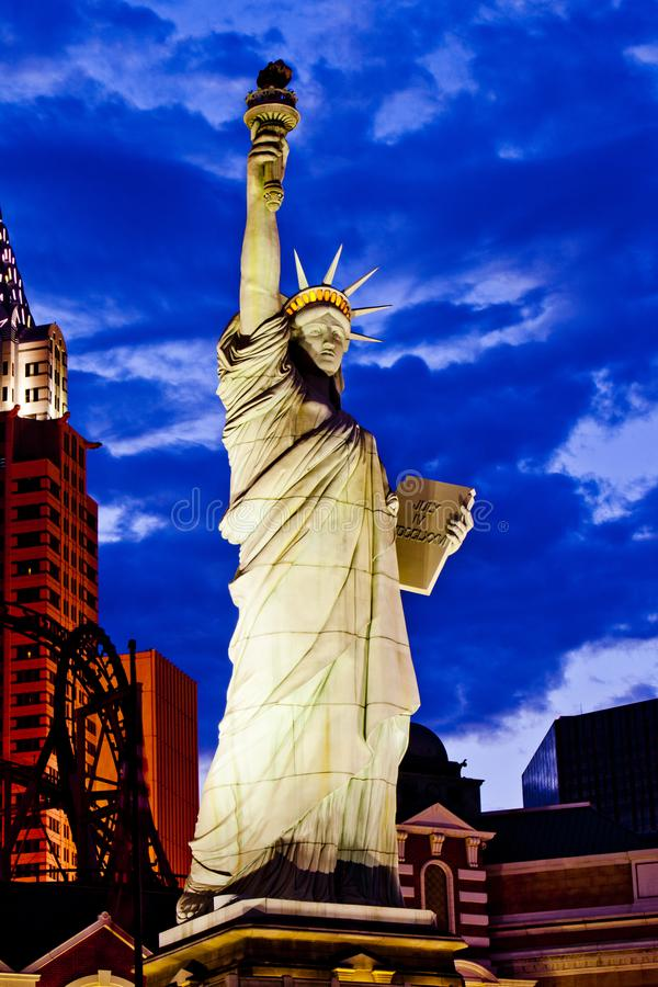 Replica of the Statue of Liberty in ,New York-New York Hotel and Casino, Las Vegas Strip, Nevada, USA royalty free stock photos
