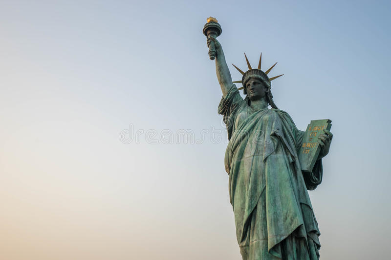 Replica Statue of Liberty in Odaiba. stock photography