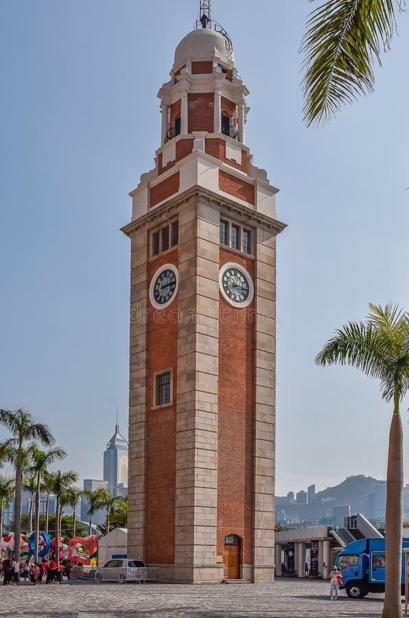 Replica van Big Ben op Kowloon Zijhong kong royalty-vrije stock foto's