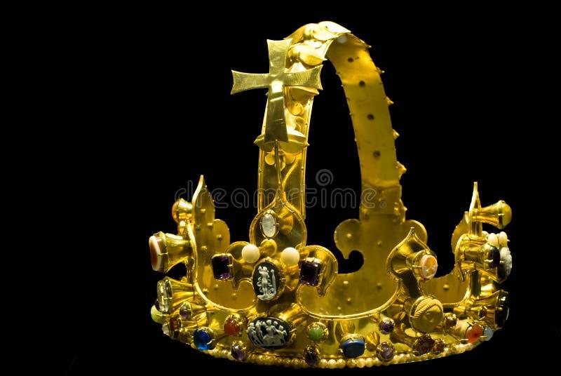 Replica van Charles de Grote kroon stock foto