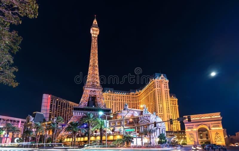 Replica van de Eiffeltoren in Las Vegas, Verenigde Staten stock foto