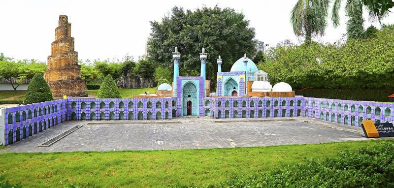 Replica van de hakimmoskee, Isphahan, Iran bij shenzhevenster van de wereld, China royalty-vrije stock foto's