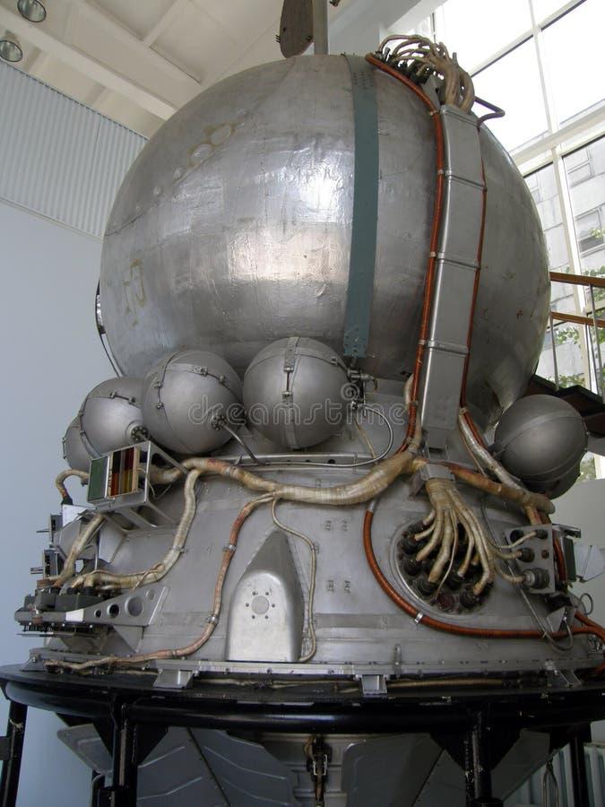 Replica van een ruimteschip Vostok stock foto's