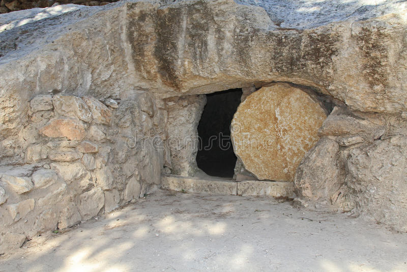 Replica van het Graf van Jesus in Israël stock foto