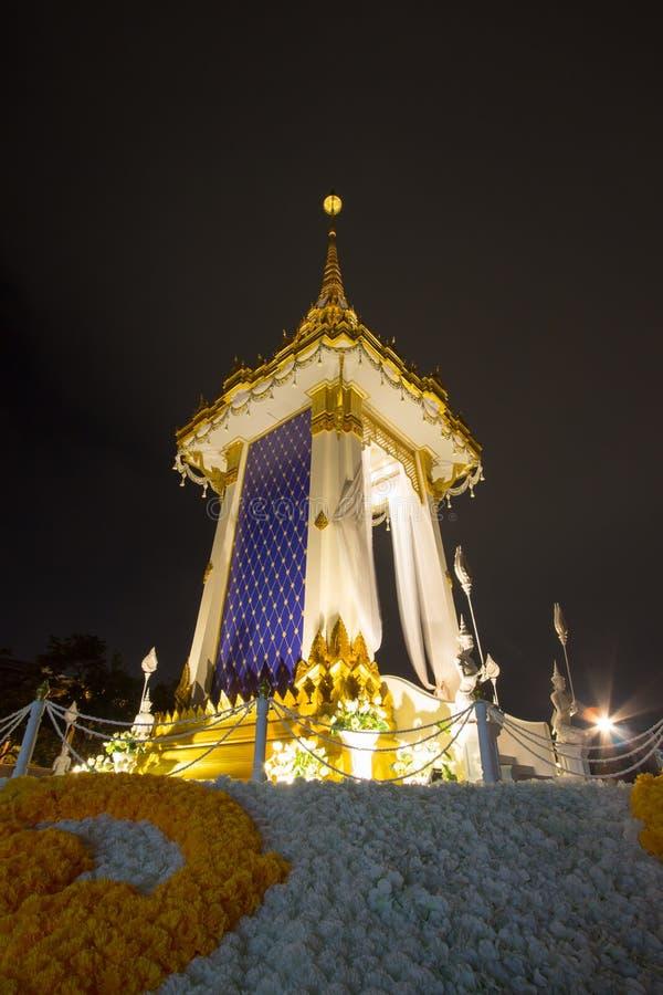 Replica van het Koninklijke Crematorium voor de Koninklijke Crematie van Zijn Majesteitskoning Bhumibol Adulyadej in Herdenkingsb royalty-vrije stock fotografie