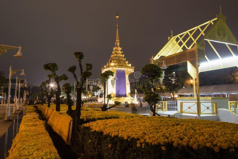 Replica van het Koninklijke Crematorium voor de Koninklijke Crematie van Zijn Majesteitskoning Bhumibol Adulyadej in Herdenkingsb stock fotografie