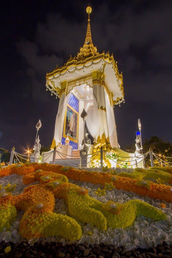 Replica van het Koninklijke Crematorium voor de Koninklijke Crematie van Zijn Majesteitskoning Bhumibol Adulyadej in Herdenkingsb stock afbeelding