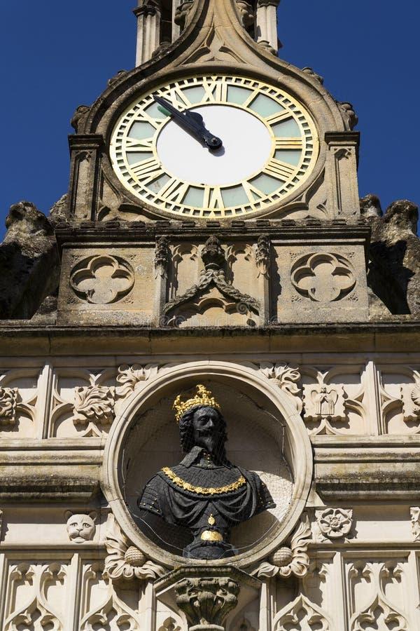 Replicamislukking van Charles I op het Kruis van de de stadsmarkt van Chichester royalty-vrije stock afbeelding