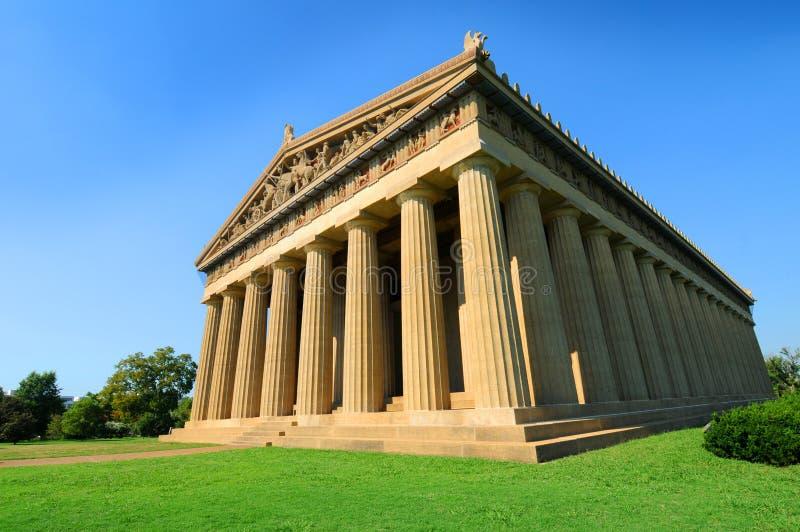 Replik des griechischen Parthenons lizenzfreie stockfotografie
