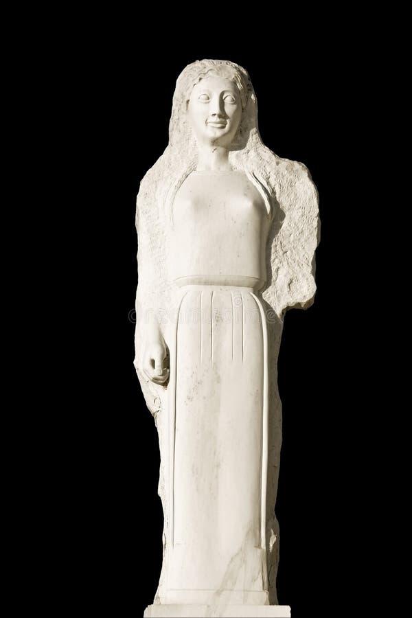 Replik einer altgriechischen Statue stockbild