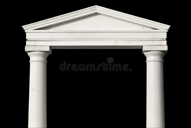 Replik eines altgriechischen Tempels stockfotos