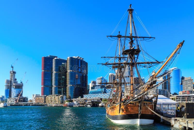 Replik von HMS-Bemühung, Sydney, Australien stockbilder