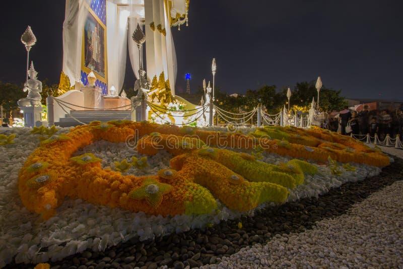 Replika Królewski Crematorium dla Królewskiej kremaci jego wysokość królewiątko Bhumibol Adulyadej przy Pamiątkowym BridgePhra Ph zdjęcie stock