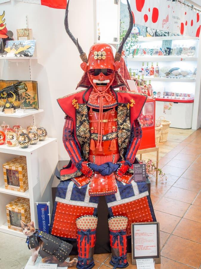 Replika Sanada Yukimura opancerzenie na sprzedaży w Odaiba, Tokio, Japonia zdjęcia royalty free