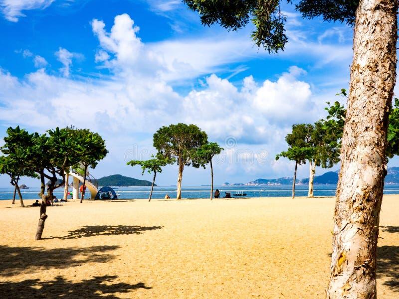 Repluse ? bay beach, Hong Kong photographie stock