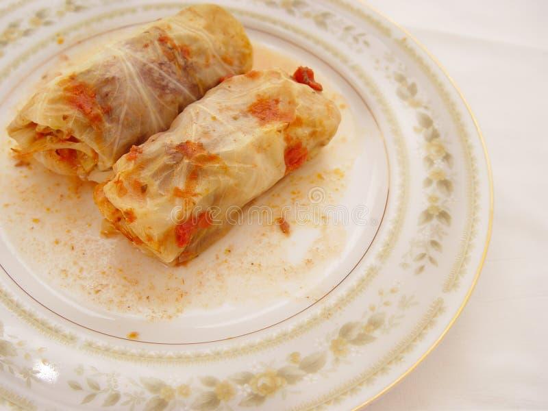 Download Repolho enchido Rolls imagem de stock. Imagem de prato, jantar - 65513